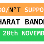 support modi on Bharat bandh