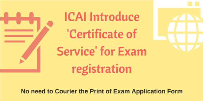 Icai introduce certificate of service for exam registration icai introduce certificate of service for exam registration download form spiritdancerdesigns