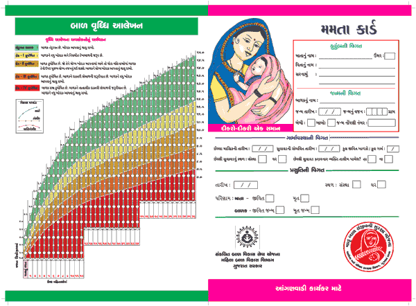Mamta Card - pregnant mother and Child Health card